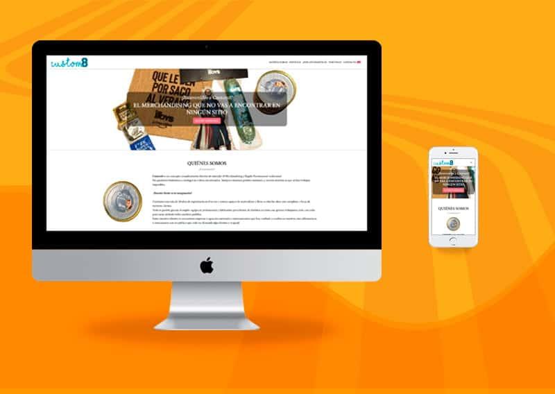 Diseño de páginas web - Custom8
