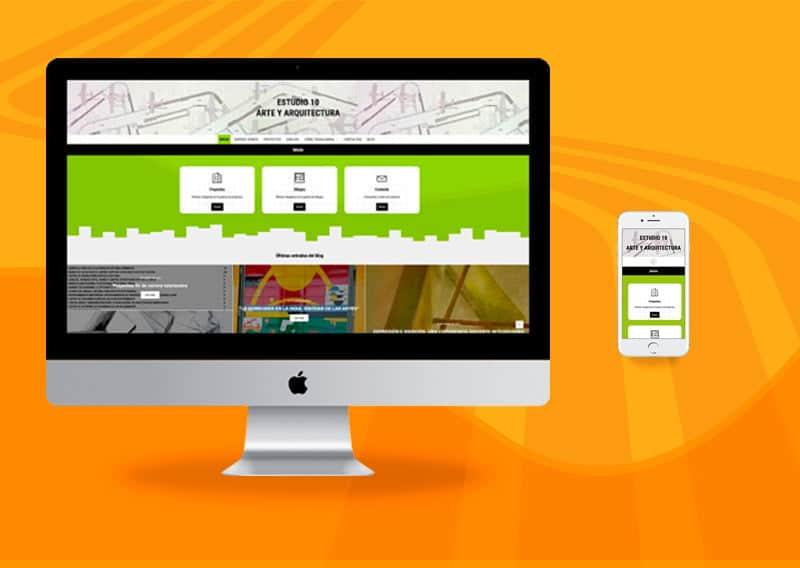 Diseño de páginas web - Estudio 10 | Arte y arquitectura