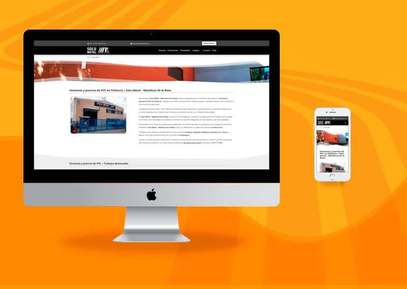 Diseño de páginas web - Metálicas de la Rosa
