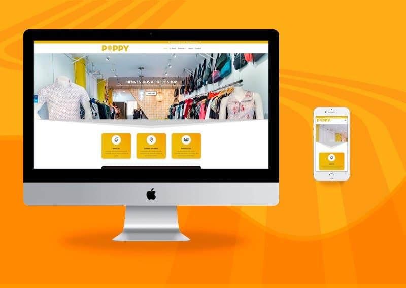 Diseño de páginas web - Poppy Shop